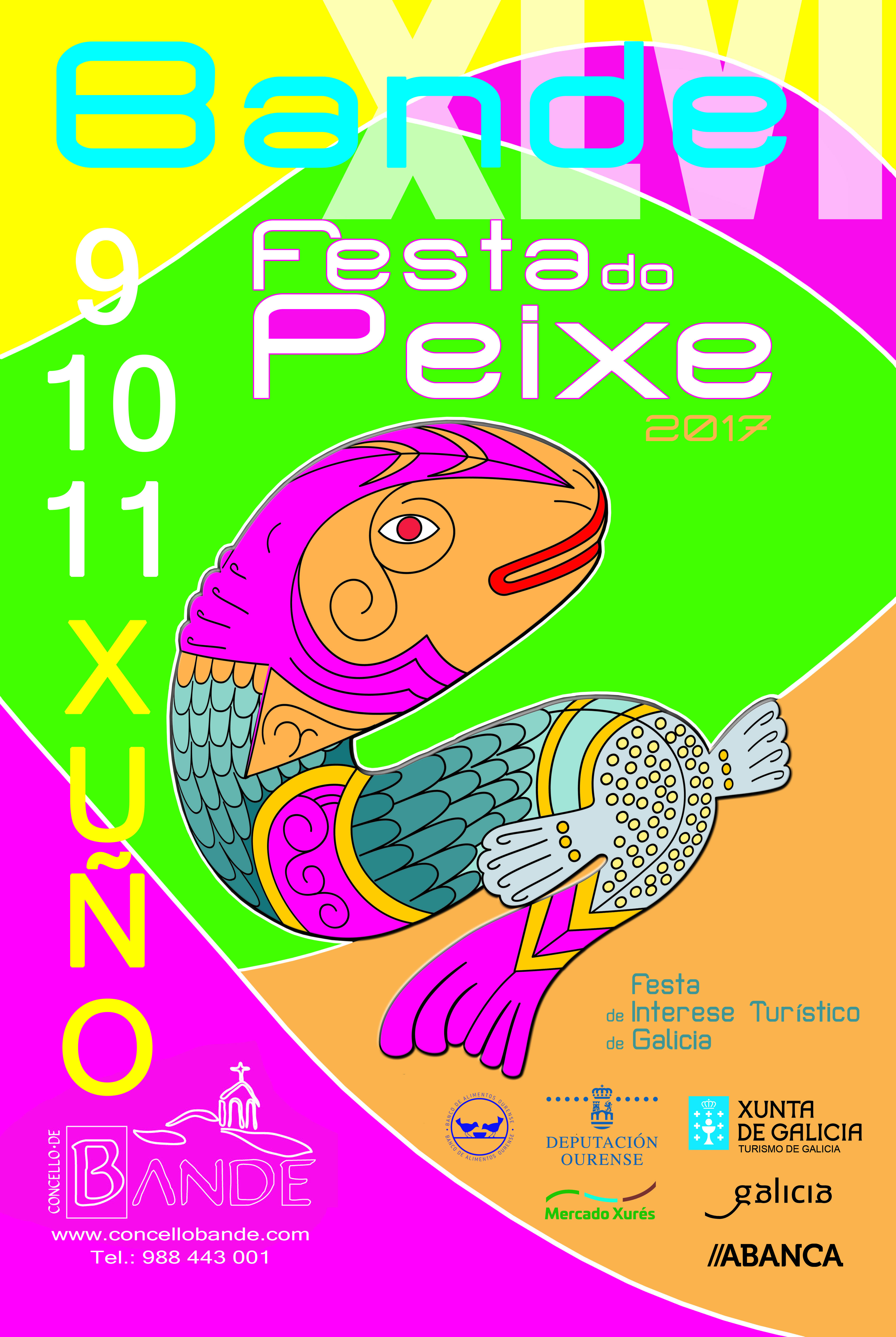 Cartel  da Festa do Peixe 2017.