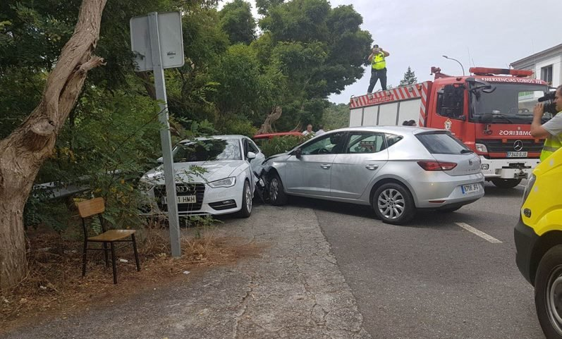 Accidente na N-540 nas Conchas